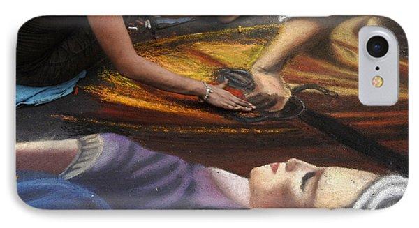 Sidewalk Art 3 Phone Case by Bob Christopher