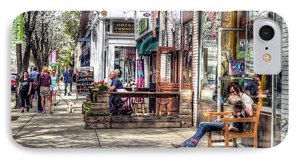 Sidewalk Scene - Great Barrington IPhone Case