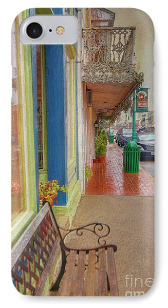 Sidewalk Shot Weston Missouri Phone Case by Liane Wright