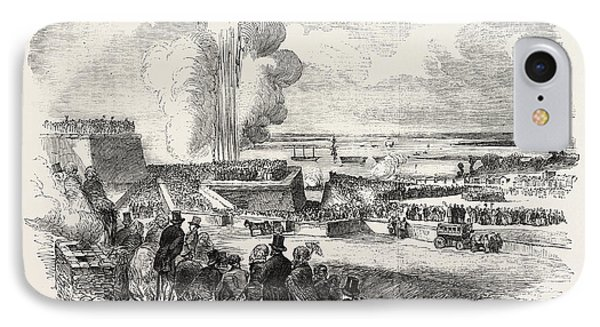 Siege Operations At Chatham Springing A Mine 1854 IPhone Case by English School