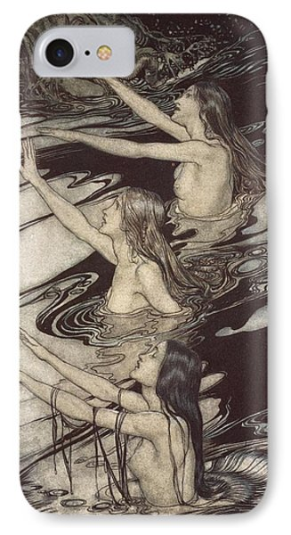 Siegfried Siegfried Our Warning Is True Flee Oh Flee From The Curse Phone Case by Arthur Rackham