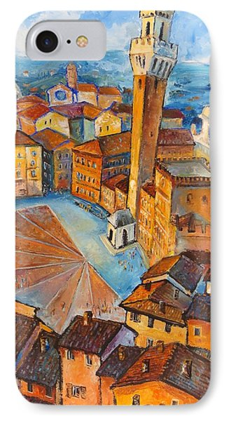 Siena-piazza Dil Campo IPhone Case