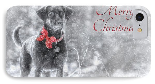 Sienna - Merry Christmas IPhone Case by Lori Deiter