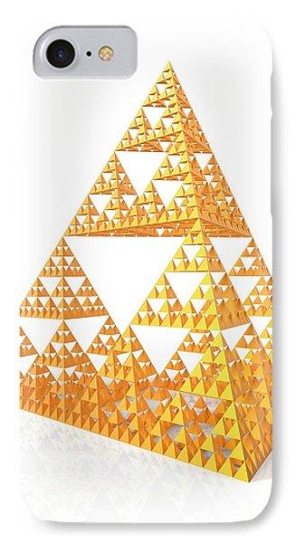 Sierpinski Fractal Pyramid IPhone Case by Alfred Pasieka