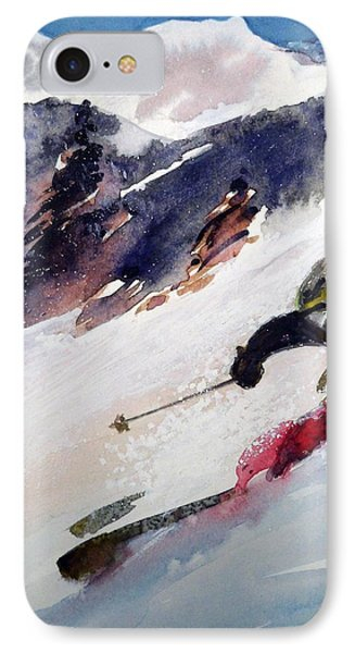 IPhone Case featuring the painting Sierra At Tahoe by Ed  Heaton