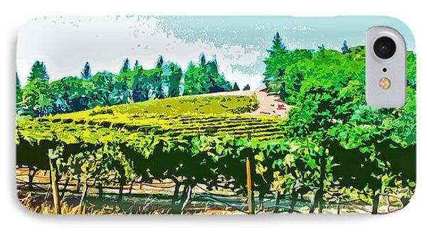 Sierra Foothills Vineyard Phone Case by Charlette Miller