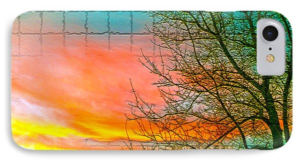 Sierra Sunset Cubed IPhone Case by Mayhem Mediums
