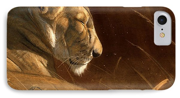 Lion iPhone 7 Case - Siesta by Aaron Blaise
