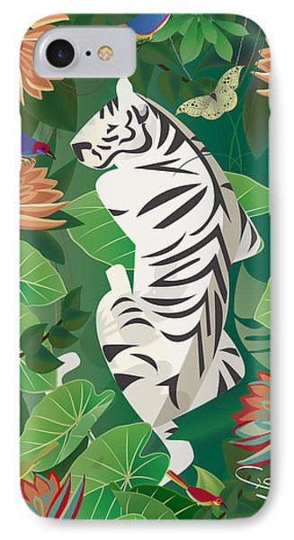 Siesta Del Tigre - Limited Edition 2 Of 15 IPhone Case by Gabriela Delgado