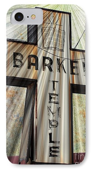Sign - Barker Temple - Kcmo IPhone Case by Liane Wright
