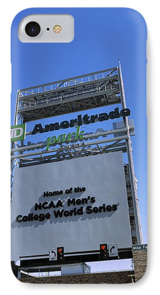 Sign Board At A Convention Center IPhone Case by Panoramic Images