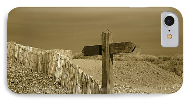 Sign Post To Nowhere 2 Phone Case by Christopher Rowlands