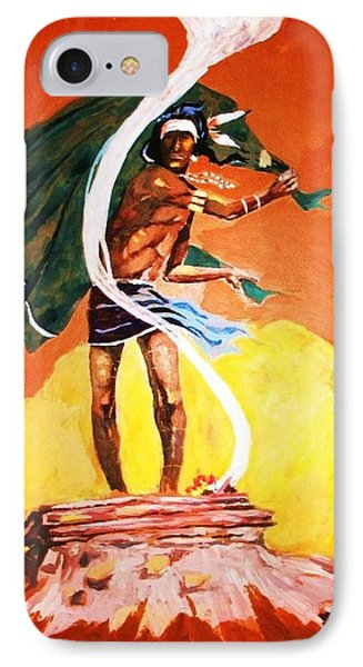 IPhone Case featuring the painting Signal From The Mesa by Al Brown