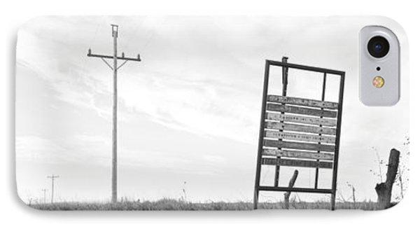 Signboard In The Field, Manhattan IPhone Case