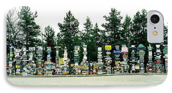 Signposts At The Roadside, Sign Post IPhone Case by Panoramic Images