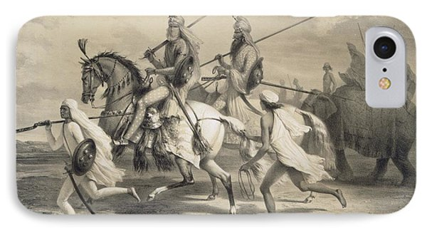 Sikh Chieftans Going Hunting IPhone Case by A Soltykoff