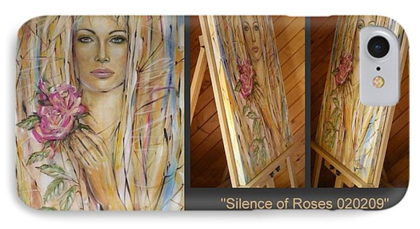IPhone Case featuring the painting Silence Of Roses 020209 by Selena Boron