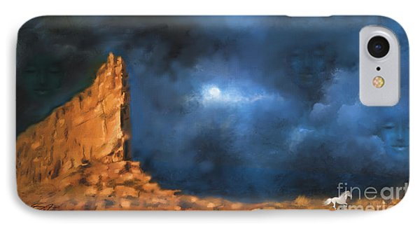 IPhone Case featuring the painting Silence Of The Night by S G