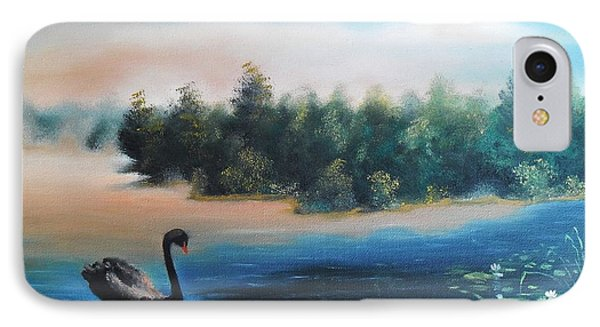 IPhone Case featuring the painting Silence by Vesna Martinjak