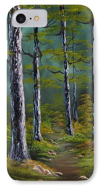 Quiet Pines IPhone Case by C Steele