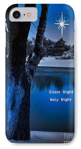 Silent Night Phone Case by Betty LaRue