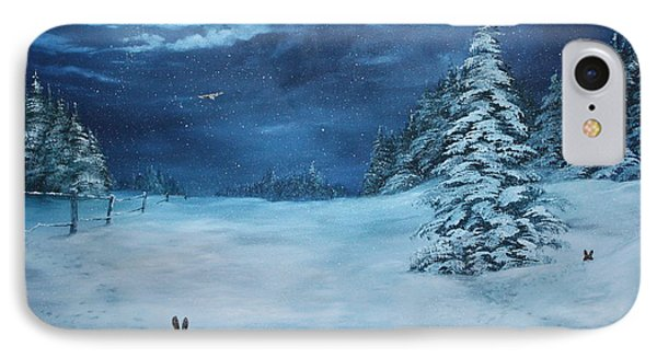 Silent Night IPhone Case by Jean Walker