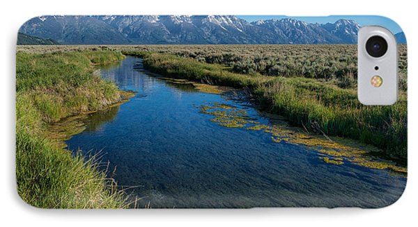 Silent Pathway To The Grand Tetons Phone Case by Sandra Bronstein