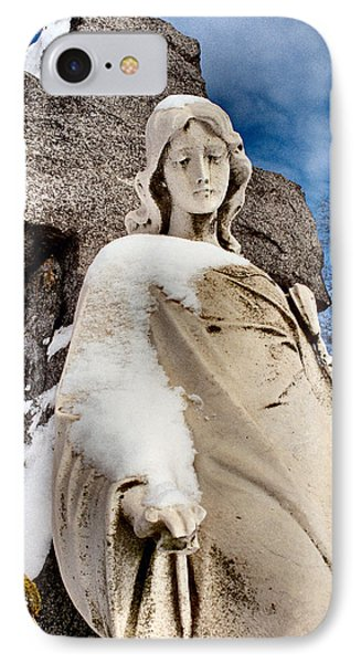 Silent Winter Angel IPhone Case by Gothicrow Images