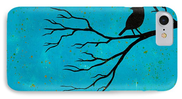 Silhouette Blue IPhone Case by Stefanie Forck