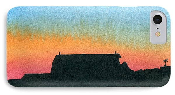 Silhouette Farmstead IPhone Case by R Kyllo