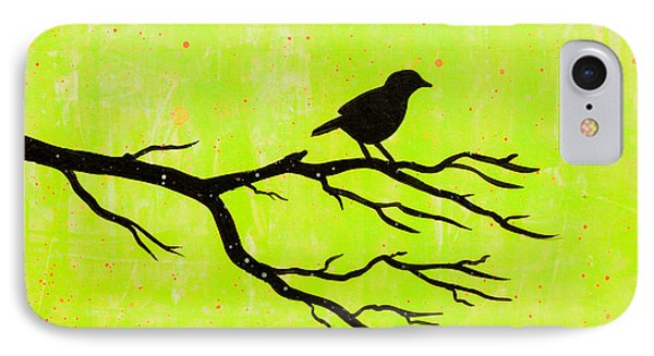 Silhouette Green IPhone Case by Stefanie Forck
