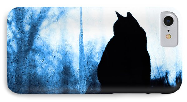 Silhouette In Blue IPhone Case by Andee Design