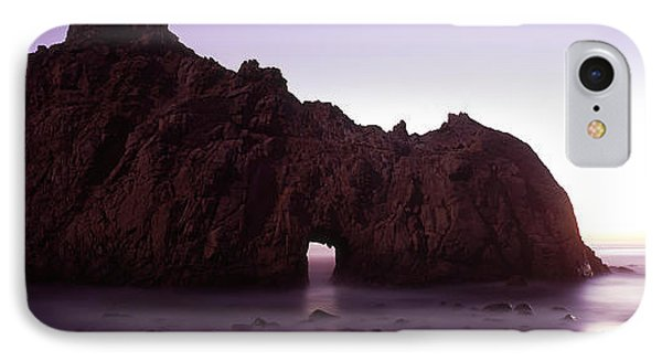 Silhouette Of A Cliff On The Beach IPhone Case by Panoramic Images