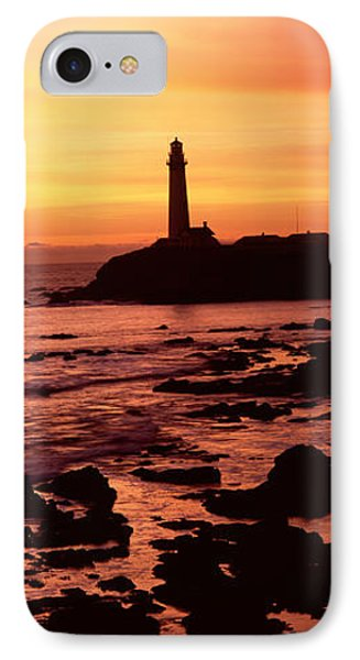 Silhouette Of A Lighthouse At Sunset Photograph By