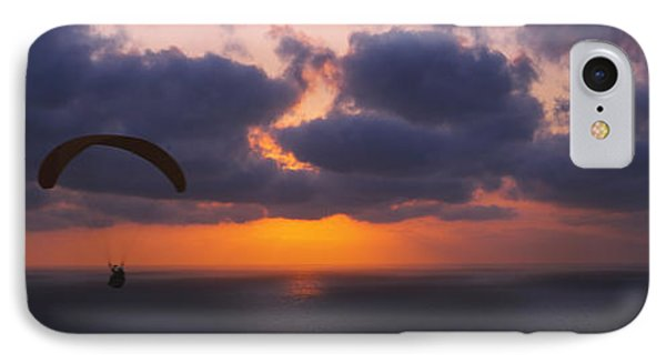 Silhouette Of A Person Paragliding IPhone Case