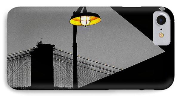 Silhouette Of Brooklyn Bridge New York City Phone Case by Sabine Jacobs
