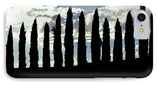 Silhouette Of Cypress Trees IPhone Case