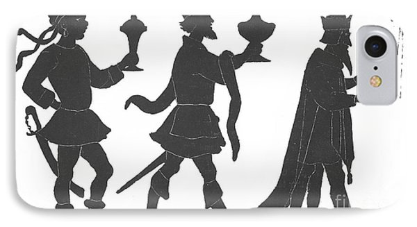 Silhouette Of Three Kings Phone Case by English School