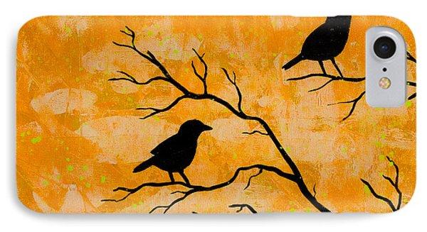 Silhouette Orange IPhone Case by Stefanie Forck