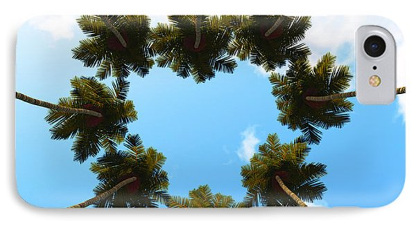 Silhouette Palms View Up IPhone Case by Aleksey Tugolukov