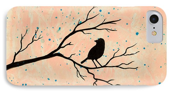 Silhouette Pink IPhone Case by Stefanie Forck