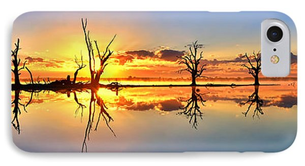 Silhouetted Sential Sunset IPhone Case by Bill  Robinson