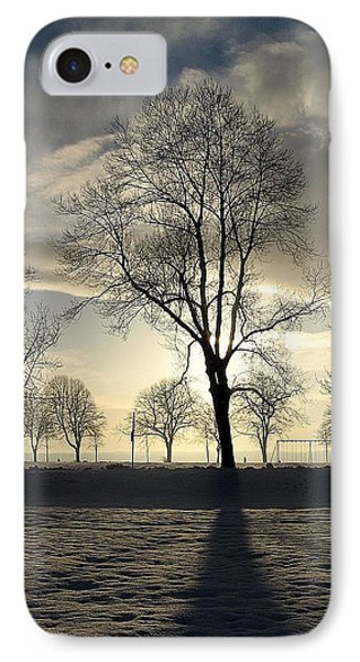 Silhouettes And A Long Winter Shadow  IPhone Case by Brian Chase