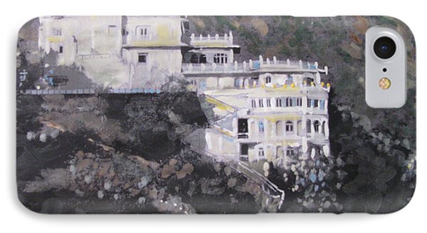 IPhone Case featuring the painting Siliserh Lake Palace  by Vikram Singh