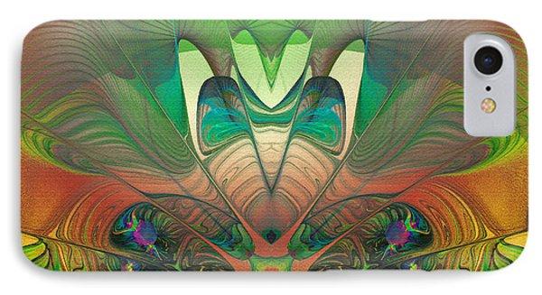 Silk Fan - Abstract  IPhone Case by Georgiana Romanovna