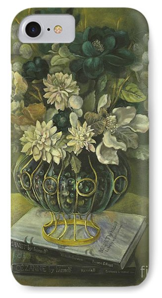 IPhone Case featuring the painting Silk Floral Arrangement by Marlene Book