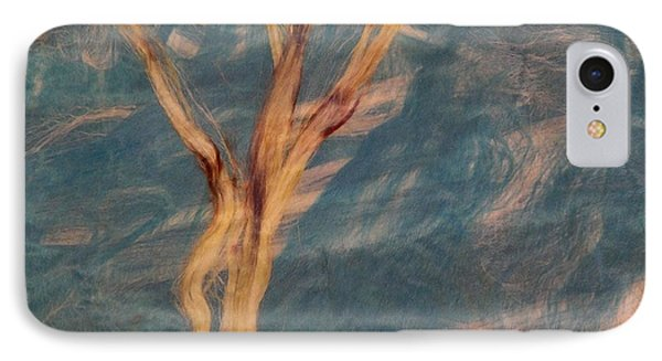 IPhone Case featuring the digital art Silk Trees by Aliceann Carlton