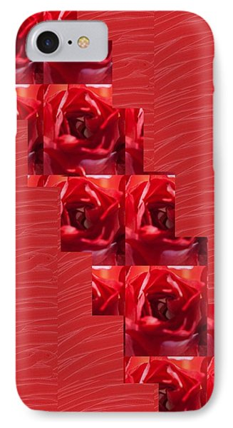 IPhone Case featuring the photograph Silken Red Sparkles Redrose Across by Navin Joshi