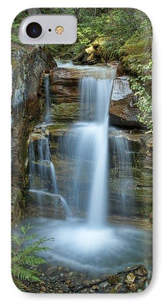 Silky Flow Of Waterfalls, Rainbow Phone Case by Roberta Murray