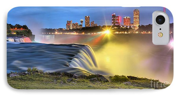Silky Niagara Falls Panoramic Sunset IPhone Case by Adam Jewell